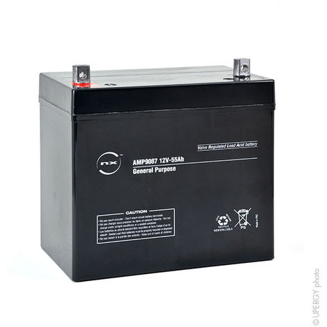 NX - Batería plomo AGM NX 55-12 General Purpose 12V 55Ah M6-M