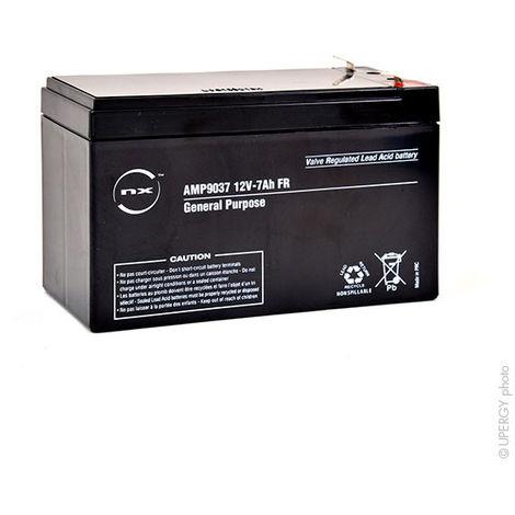 NX - Batería plomo AGM NX 7-12 General Purpose FR 12V 7Ah F4.8
