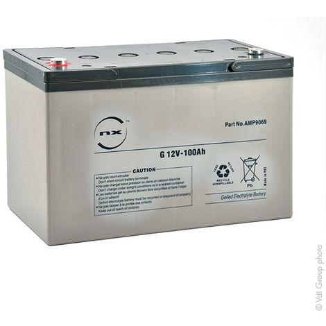 NX - Batería plomo sellada gel NX 100-12 Cyclic 12V 100Ah M8-F