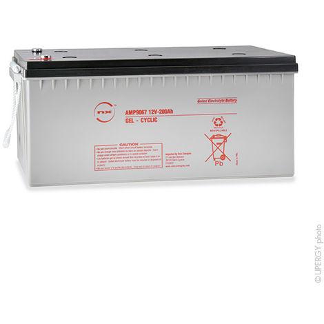 NX - Batería plomo sellada gel NX 200-12 Cyclic 12V 200Ah M8-F