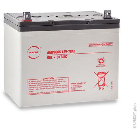 NX - Batería plomo sellada gel NX 70-12 Cyclic 12V 70Ah M6-M