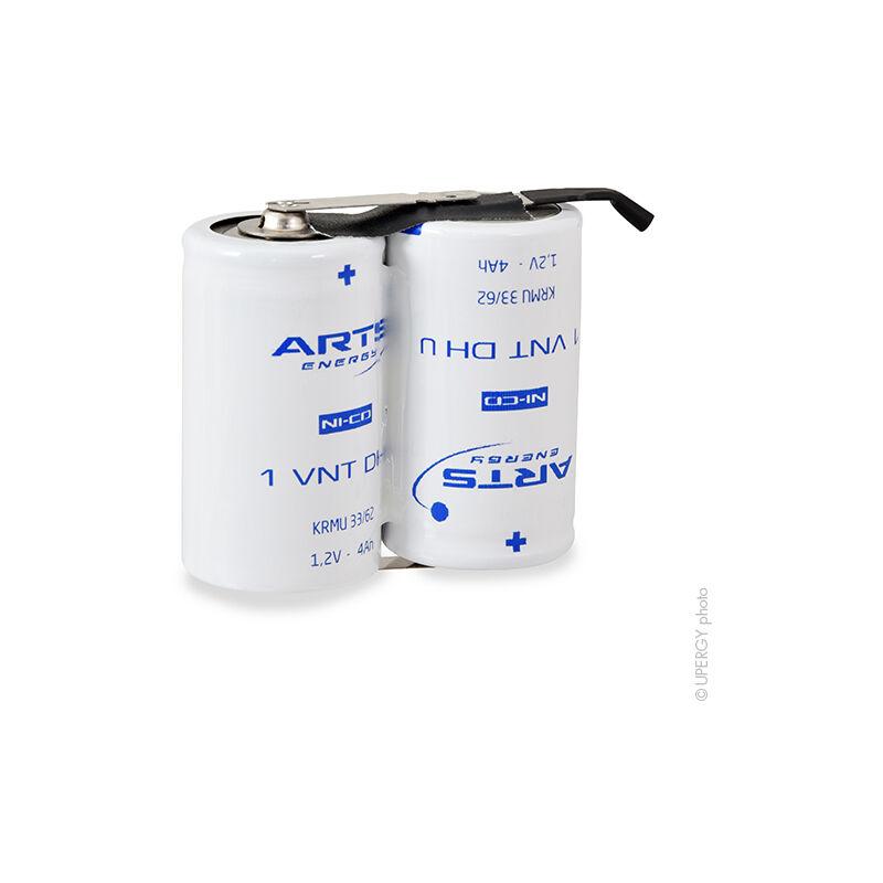 NX - Batterie eclairage secours 2x D VNT 2S1P ST1 2.4V 4Ah Fast