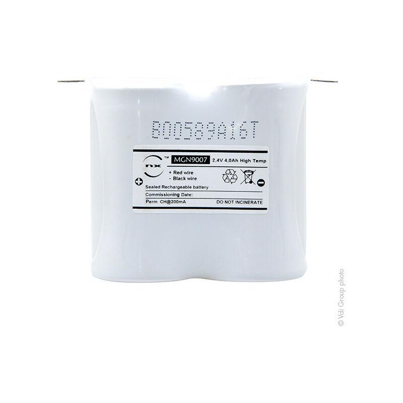 NX - Batterie eclairage secours 2xD ST1 Faston 4.8mm 2.4V 4Ah