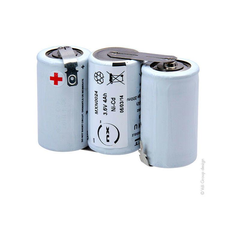 Nx ™ - NX - Batterie eclairage secours 3x D HT 3S1P ST1 3.6V 4Ah fast
