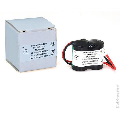 NX - Batterie lithium 2x 1/2AA CR 2S1P ST1 6V 950mAh JST