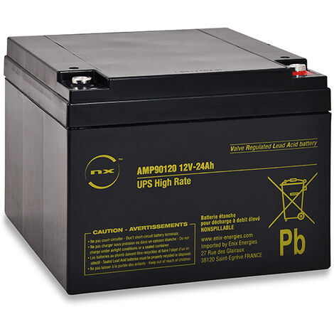 NX - Batterie onduleur (UPS) NX 24-12 UPS High Rate 12V 24Ah M5-F