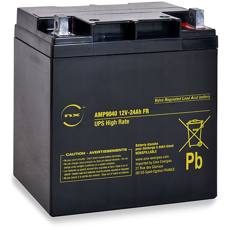 "main image of ""NX - Batterie onduleur (UPS) NX 24-12 UPS High Rate FR 12V 24Ah M6-M"""