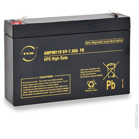NX - Batterie onduleur (UPS) NX 7.8-6 UPS High Rate FR 6V 7.8Ah F6.35
