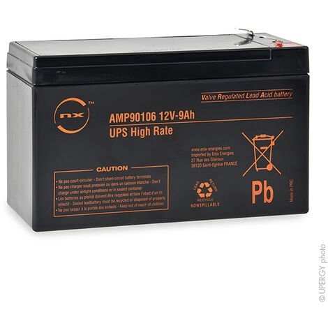 NX - Batterie onduleur (UPS) NX 9-12 UPS High Rate 12V 9Ah F6.35