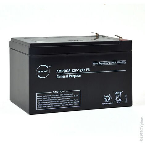 NX - Batterie plomb AGM NX 12-12 General Purpose FR 12V 12Ah F6.35