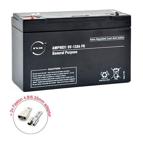NX - Batterie plomb AGM NX 12-6 General Purpose FR 6V 12Ah F4.8