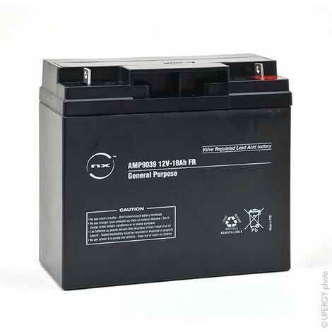NX - Batterie plomb AGM NX 18-12 General Purpose FR 12V 18Ah M6-M