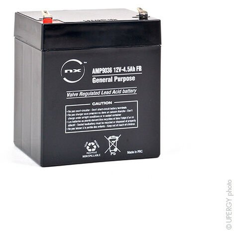 NX - Batterie plomb AGM NX 4.5-12 General Purpose FR 12V 4.5Ah F4.8