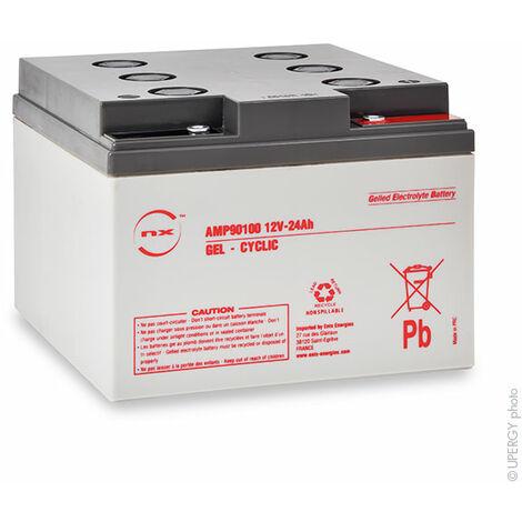 NX - Batterie plomb etanche gel NX 24-12 Cyclic 12V 24Ah M5-F