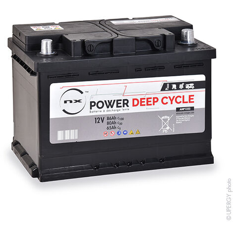 NX - Batterie traction NX Power Deep Cycle 12V 80Ah Auto