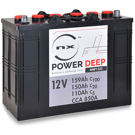 NX - Batterie traction NX Power Deep Cycle DUAL 12V 150Ah Auto