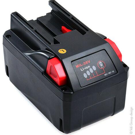 "main image of ""NX - Batterie visseuse, perceuse, perforateur, ... compatible Milwaukee M28 B5 28V 3Ah - 40"""