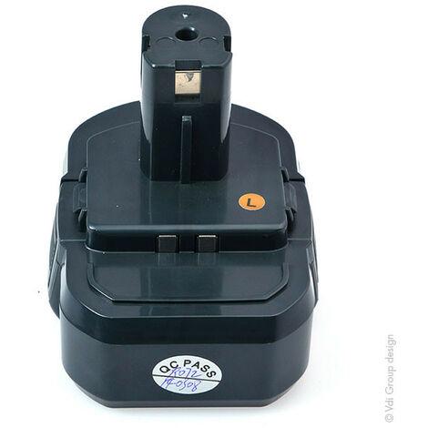 NX - Batterie visseuse, perceuse, perforateur, ... compatible Ryobi 14.4V 1.5Ah - BPL1414 ;