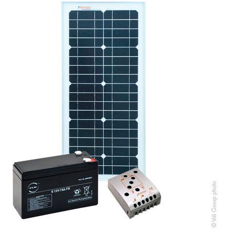 NX - Kit solar atónomo 12V 25WC (50 Wh/día máx)