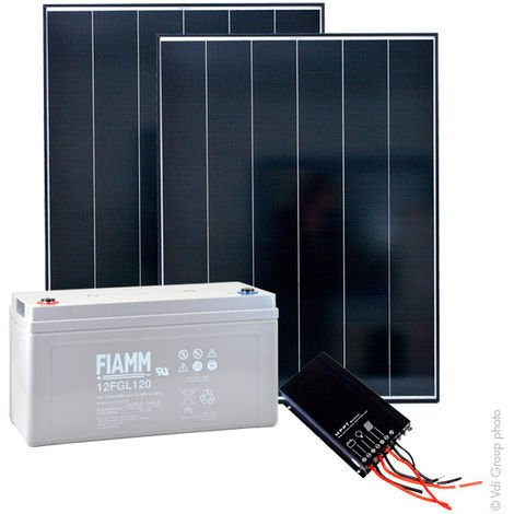 NX - Kit solar autónomo L 12V 300Wp (1200Wh/día maxi)
