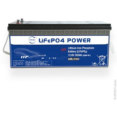 NX - NX - Batterie Lithium Fer Phosphate NX LiFePO4 POWER UN38.3 (2560Wh) 12V 200Ah M8-F