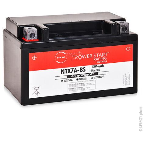 NX - NX - Batterie moto Gel YTX7A-BS / FTX7A-BS / NTX7A-BS 12V 6Ah