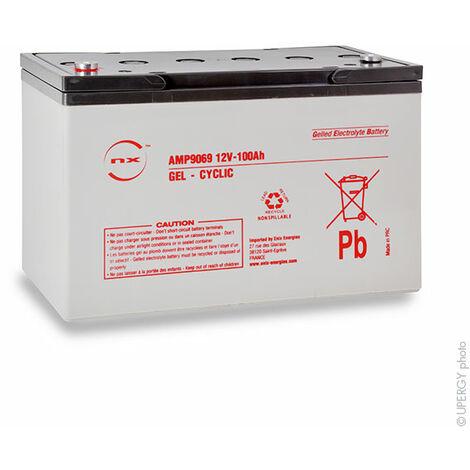 NX - NX - Batterie plomb etanche gel NX 100-12 Cyclic 12V 100Ah M8-F