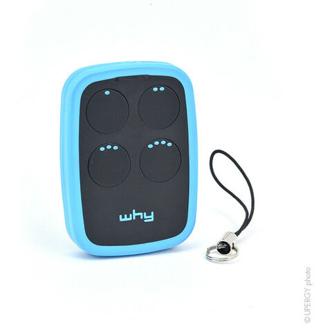 NX - Télécommande WHY-2 (bleue) 0Mhz 4Touch - COMPATIBLE ; TELECOPIEUSE_WHY2_BLU