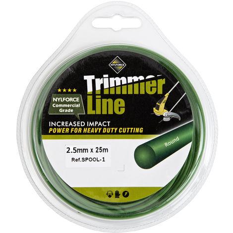 Nylon 2.5mm 25m Línea de alambre de Trueshopping