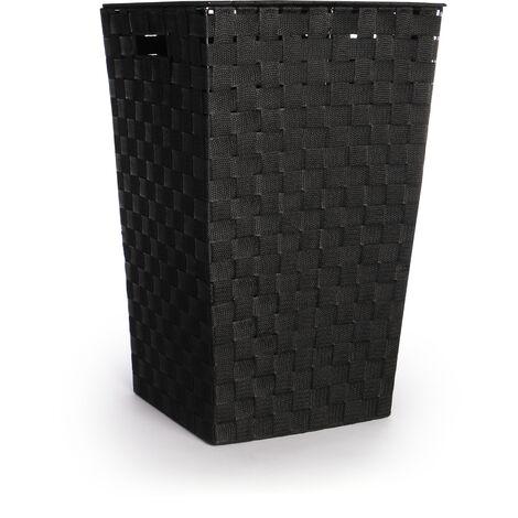 Nylon Laundry Basket - 45L | Pukkr Black