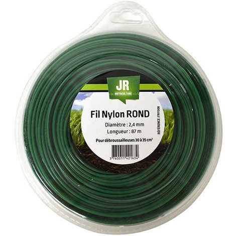Nylon Round Trimmer-Line - Replacement Strimmer Line - 2.4mm x 87m - JR FNY008