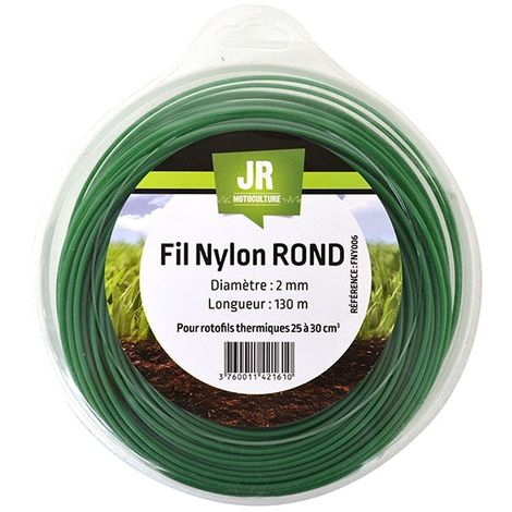 Nylon Round Trimmer-Line - Replacement Strimmer Line - 2mm x 130m - JR FNY006