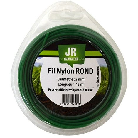 Nylon Round Trimmer-Line -Replacement Strimmer Line - 2mm x 15m -JR FNY005