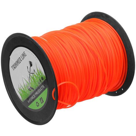 Nylon Square Trimmer Strimmer Line Brushcutter Cord Rope Orange 2.4X261M