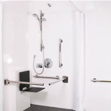 Nymas NymaSTYLE Doc M Shower Pack with Concealed Valves and Slimline Seat - Satin