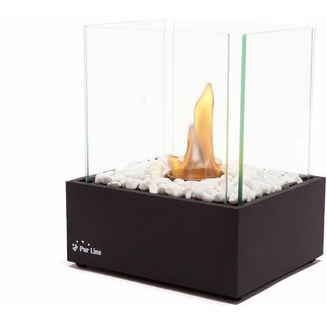 Nympha, peque?a estufa de Bioetanol con 4 cristales de seguridad y un quemador de 0.15 litros de capacidad.