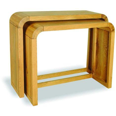 Oak Lounge Petite Set of 2 Consoles - Stunning Retro Oak Furniture