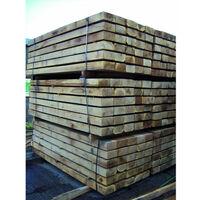 Oak Sleepers 2.4m (8ft) 100mm x 200mm Hardwood Timber Sleeper Pack of 4