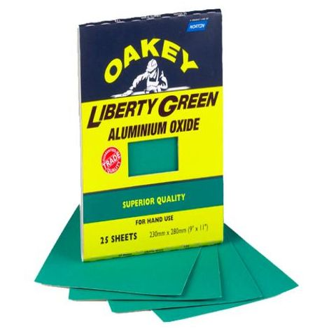 Oakey Liberty Green Sheets (3) Assorted