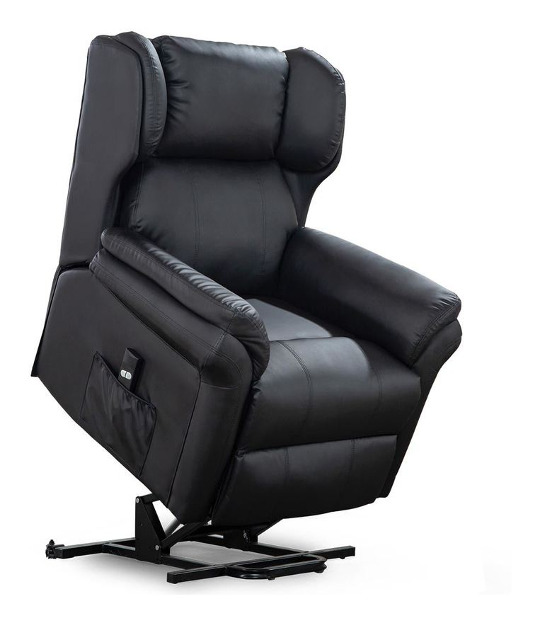 OAKFORD ELECTRIC RISE RECLINER BONDED LEATHER ARMCHAIR LOUNGE MOBILITY CHAIR different colors available