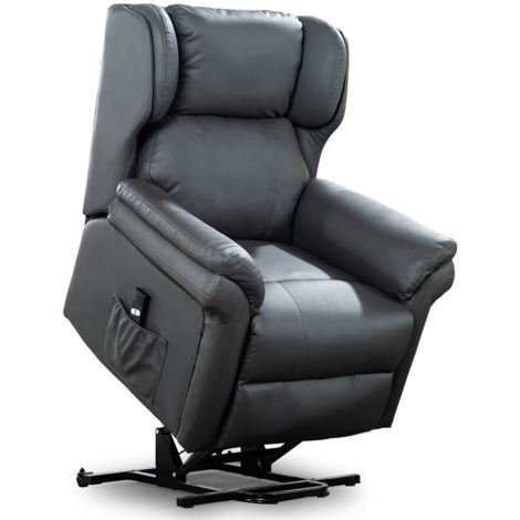 OAKFORD ELECTRIC RISE RECLINER BONDED LEATHER ARMCHAIR LOUNGE MOBILITY CHAIR - different colors available