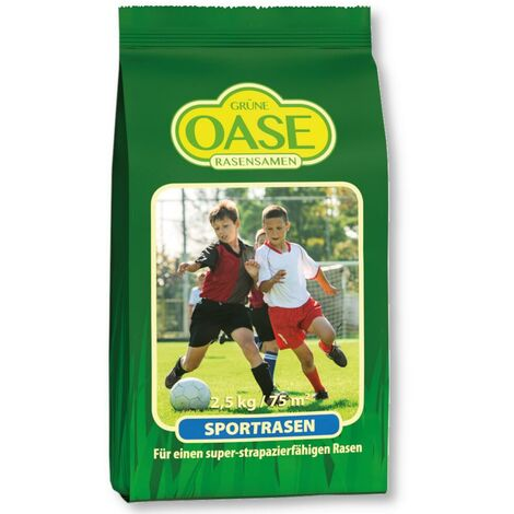 Oasis gazon de sportsports pelouse 2,5 kg graines de gazon, herbe, gazon, sport, famille, robuste