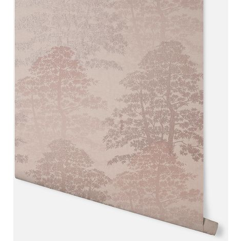 Oasis Wood Blush Wallpaper - Arthouse - 296600