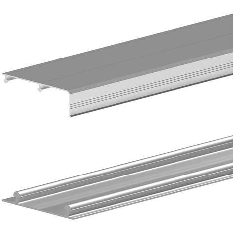 Obere und untere Aluminium-Laufschiene 180 cm, für SLID'UP 210, 220, 230 Schiebetürbeschlag, Alu eloxiert