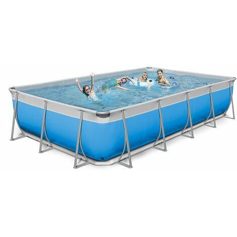 Oberirdischer rechteckiger Pool 520x265 H125 New Plast komplett FUTURA 520
