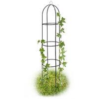 Obléisque Tuteur Plantes Grimpantes Rosiers Arcade Pour Roses Arceau Jardin Arche De Jardin Métal 190cm Vert