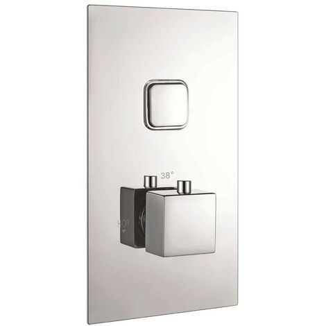 Observa Chrome Single Push Button Concealed Shower Valve (TMV2)