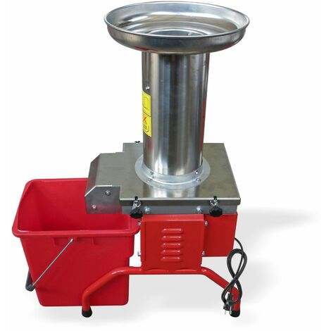 Obsthäcksler Obstmühle Obstmuser elektrisch 1,1kW 1,5 PS mit Edelstahltrichter