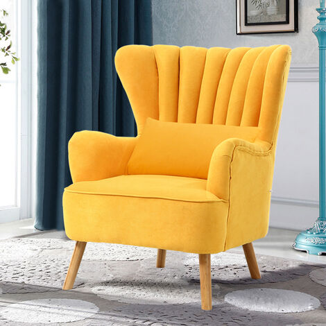 Occasion Suede Wingback Armchair With Cushion