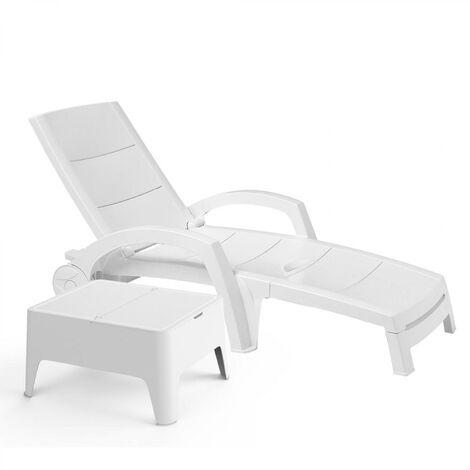 Ocean/ Alaska - Bain de soleil et petite table basse blanc
